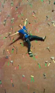Injury free and happy climber at Rockville climbing gym